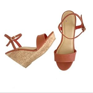 Delicious Open Toe Cork Wedge Sandal Size 8.5